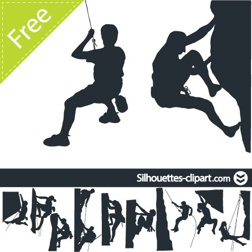 500x500 Climber Vector Silhouette Silhouettes Clipart Silhouettes
