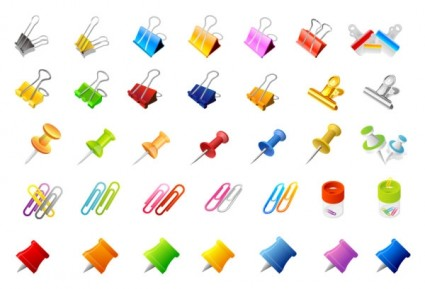 425x289 Office Supplies And The Pins Of The Clip Vector Vector Misc Free