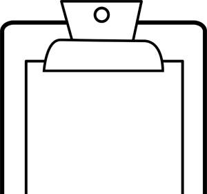 300x281 Clipboard Vector