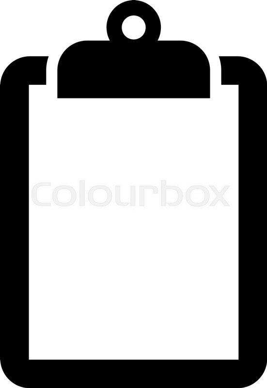 551x800 Clipboard Vector Icon Stock Vector Colourbox