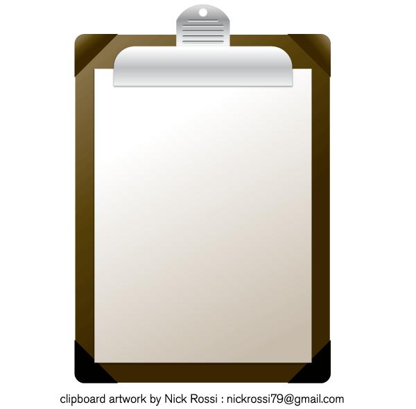 600x590 Clipboard Vector Illustration Free Free Vectors