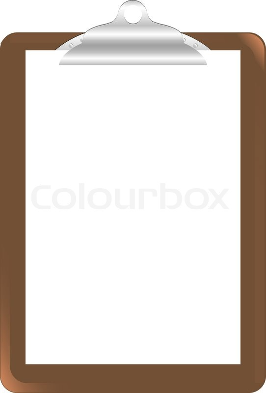 542x800 Wood Clipboard Base With Metal Ball Dog Clip And White Blank Paper