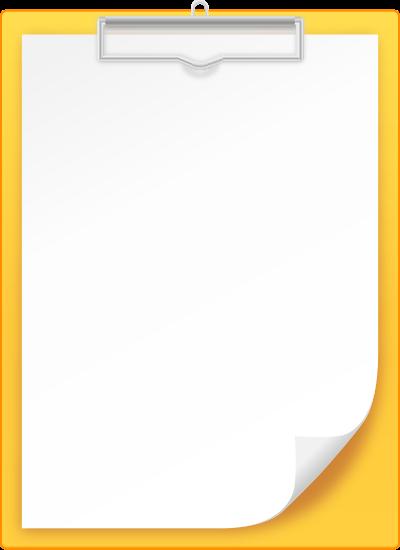 400x550 Yellow Clipboard Vector Icon Svg(Vector)public Domain Icon