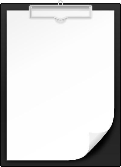 400x550 Black Clipboard Vector Icon Svg(Vector)public Domain Icon