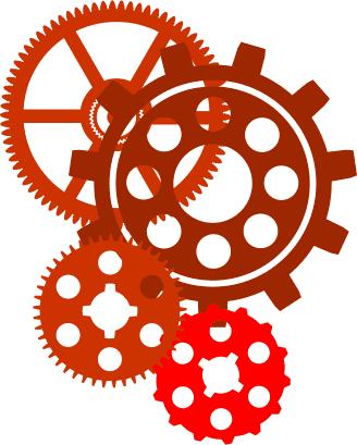 Clock Gear Vector