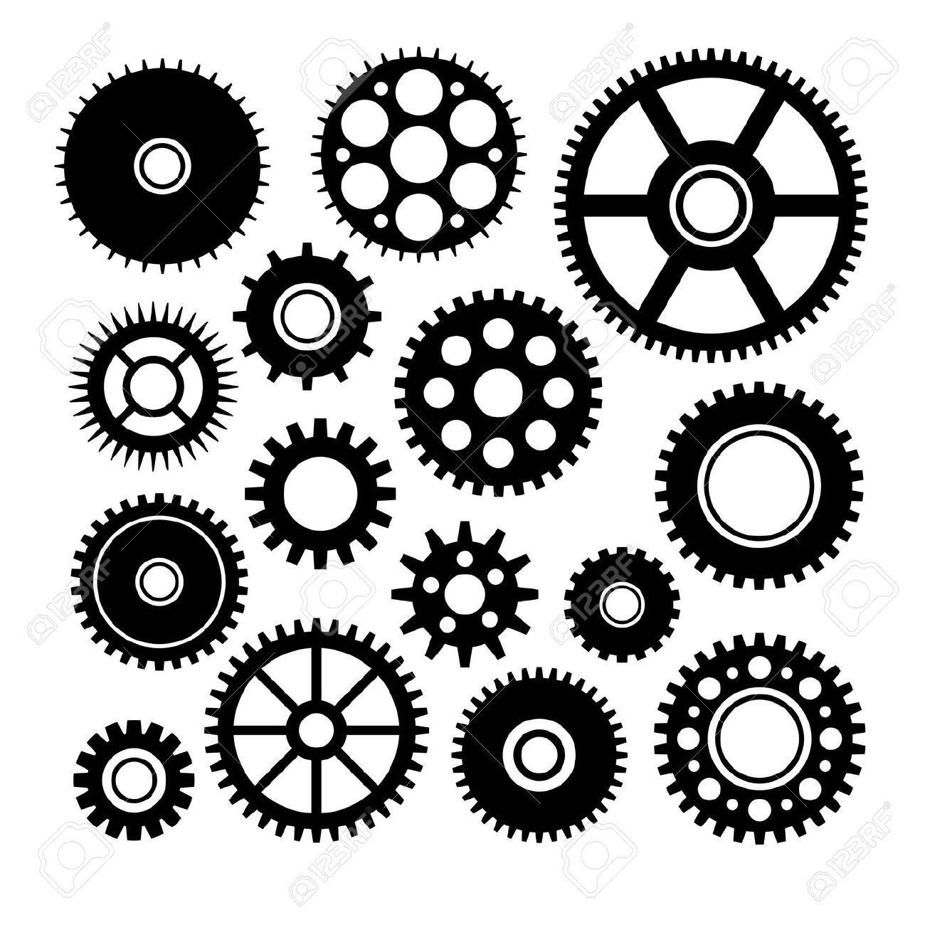 Clock Gear Vector At Getdrawings Com Free For Personal Use Clock