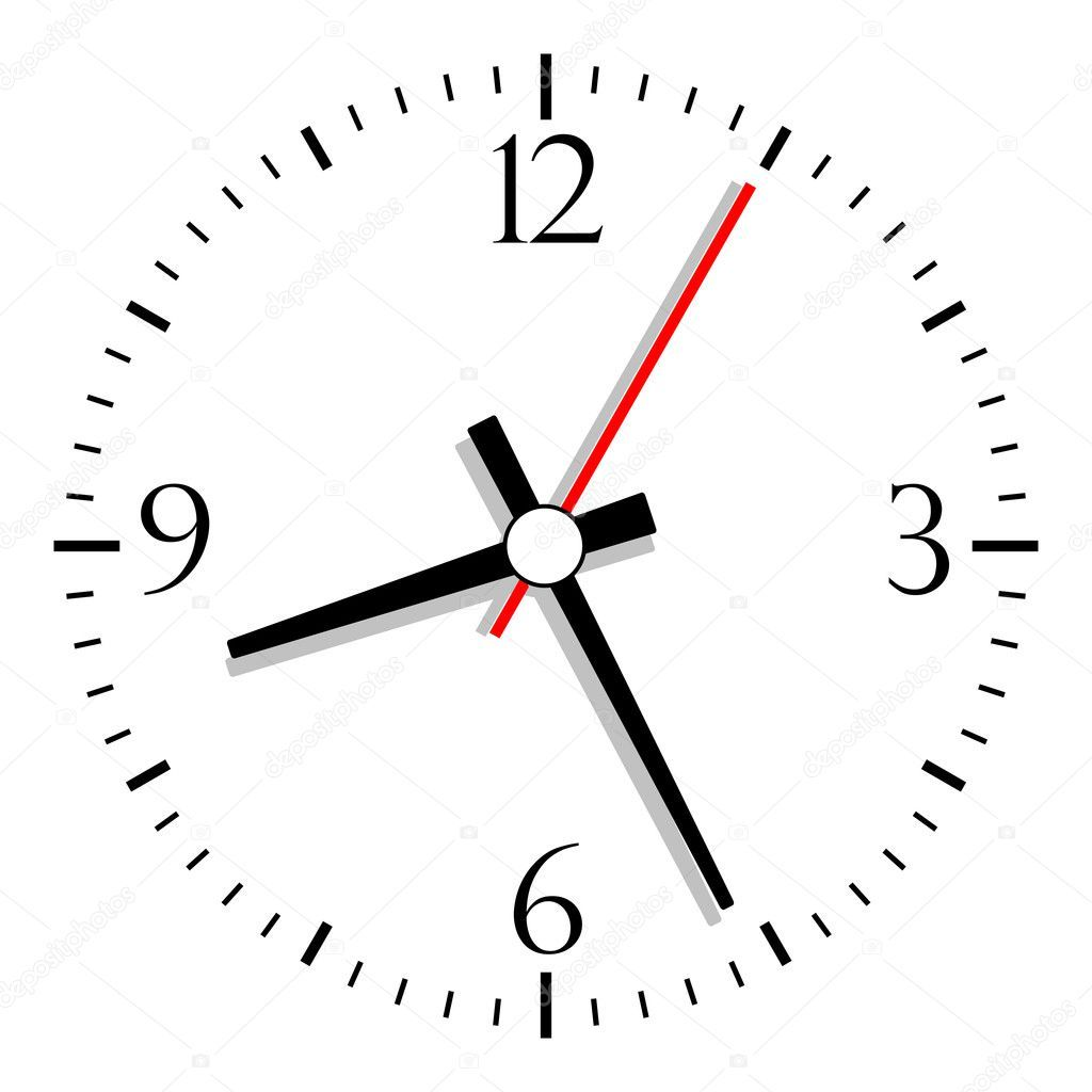 1024x1024 Clock Hands Vector Numbered Clock Vector Ministuras