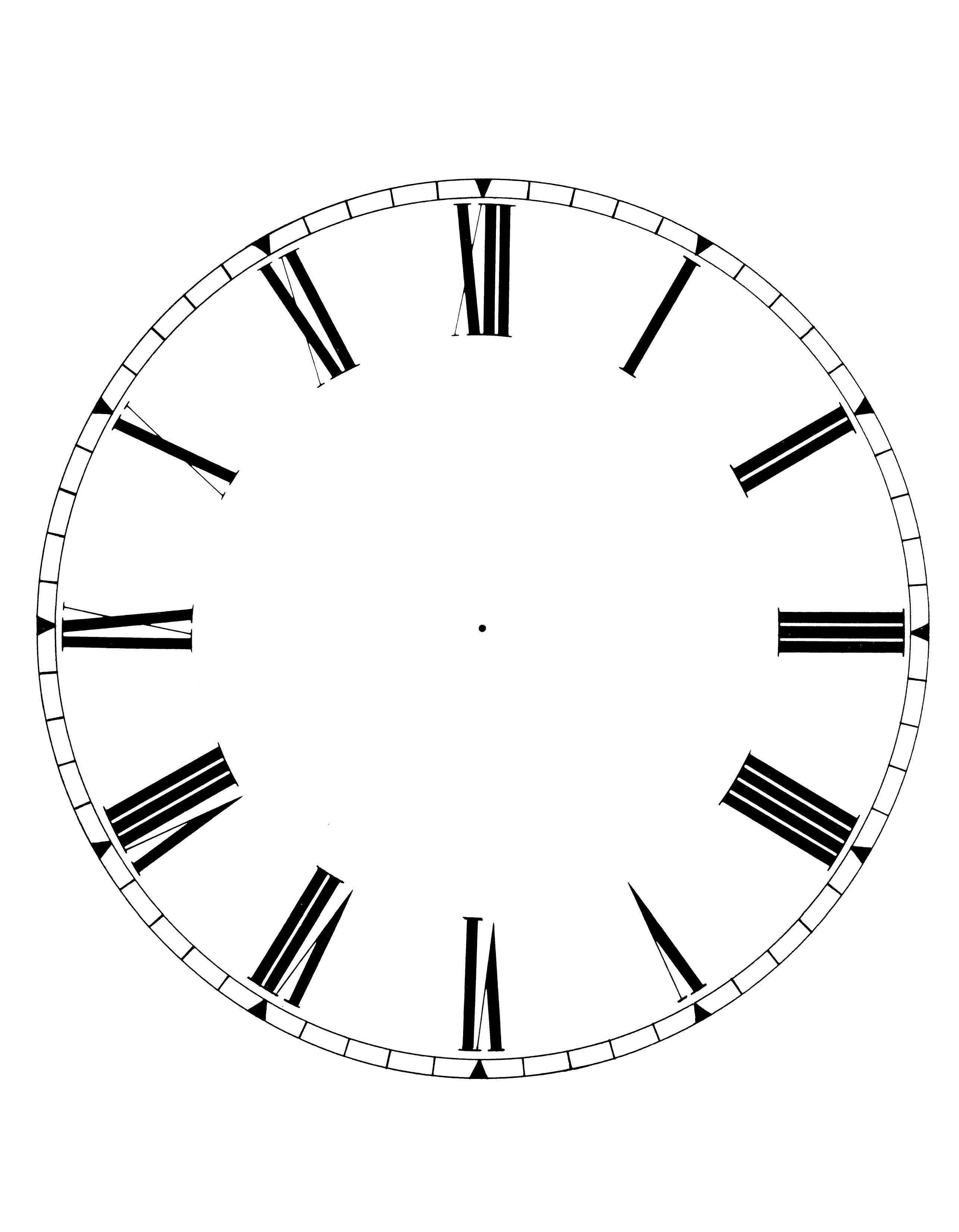 2570x3300 Clock With Minute Ticks, No Hands Clip Art
