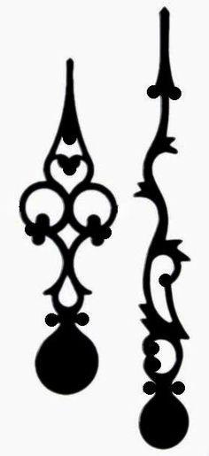 236x515 The Free Svg Blog Ornate Clock Hands