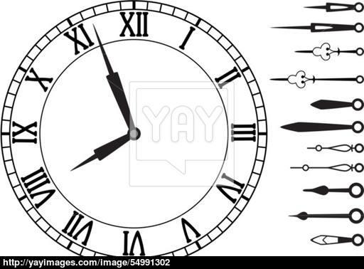 512x378 Vector Clock And Set Of Hands Vector