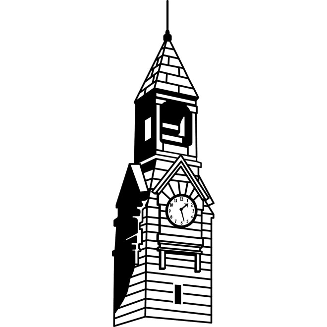 660x660 Clock Tower Vector Image