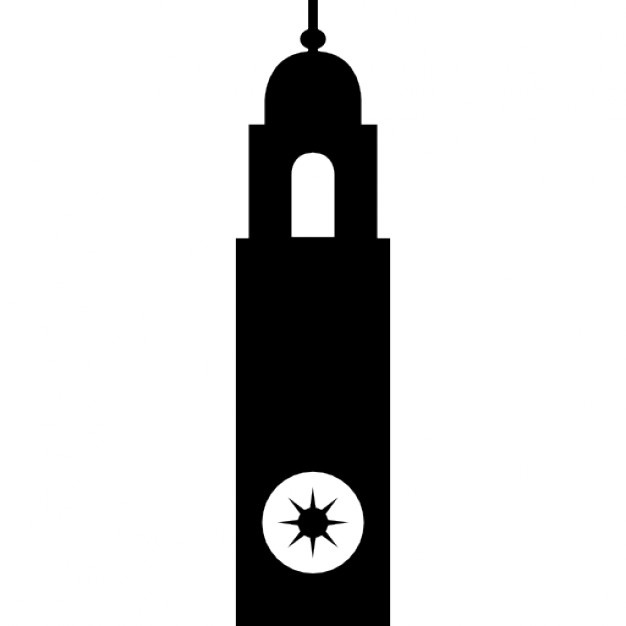626x626 Clock Tower Vector Png