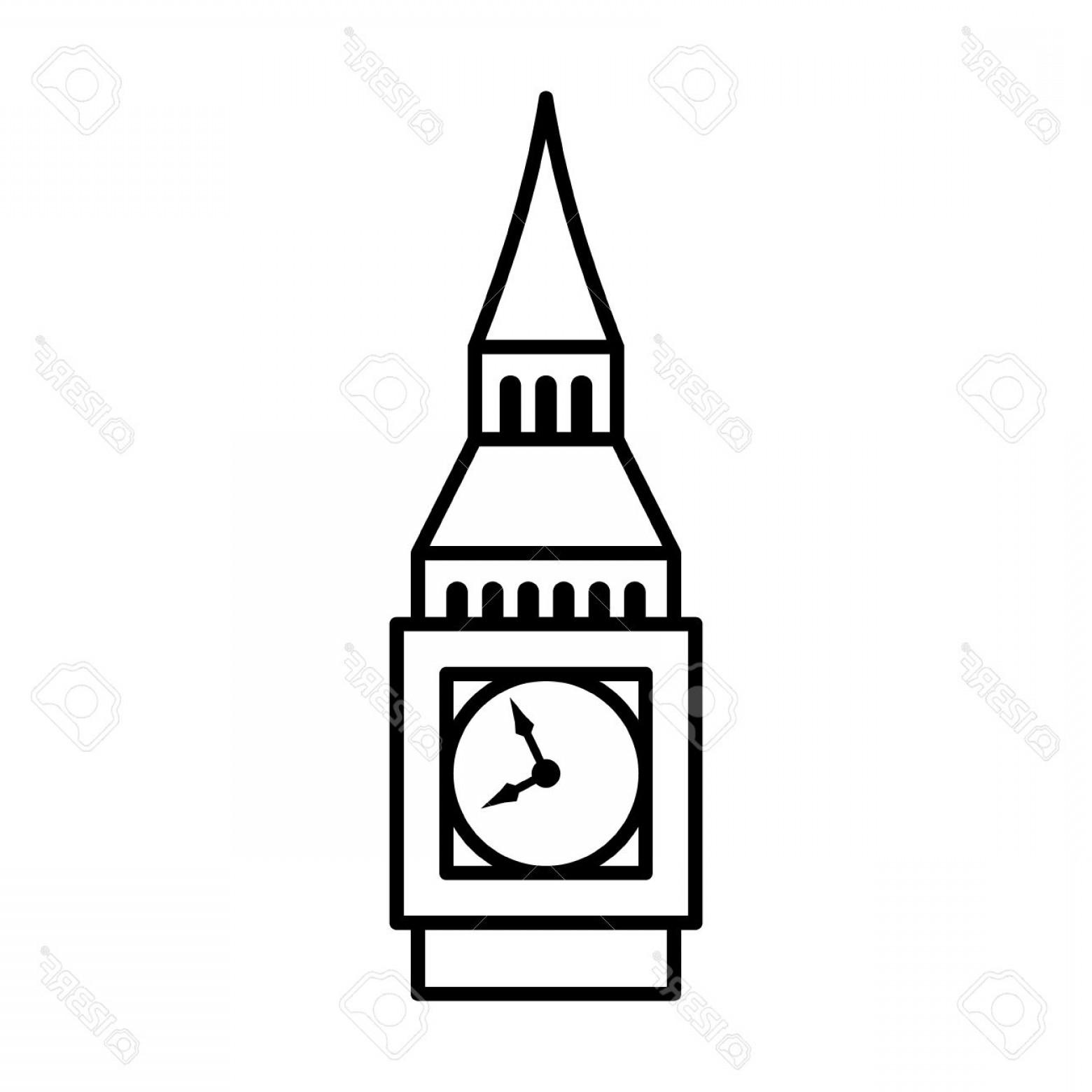 1560x1560 Photostock Vector Big Ben Clock Tower Elizabeth Tower In London