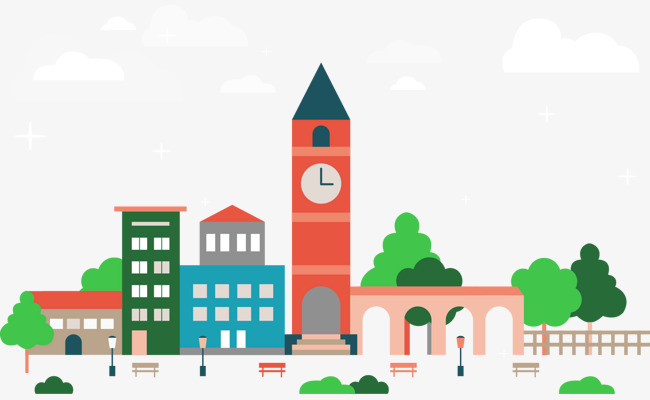 650x400 Vector Clock Tower, Clock Tower, Vector, Building Png And Vector