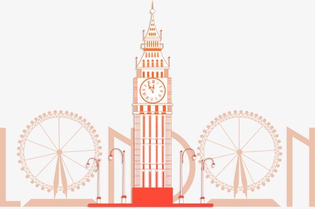 650x432 Vector Clock Tower, Clock Vector, Clock Tower, Cartoon Clock Tower