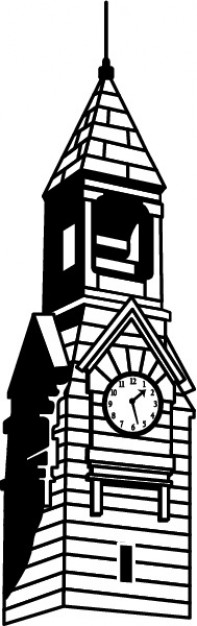 197x626 Vintage Clock Tower Vector Free Download