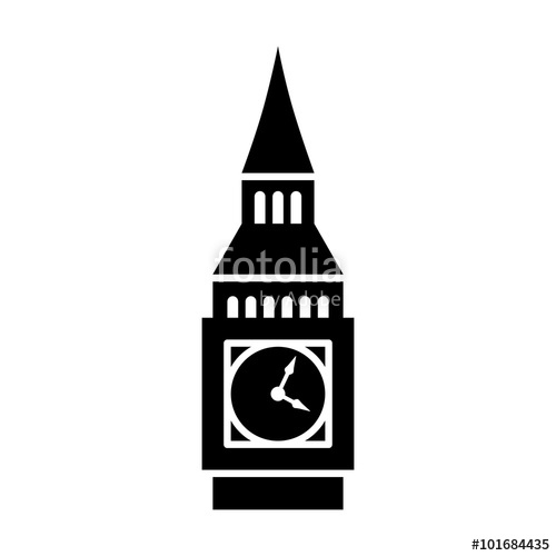 500x500 Big Ben Clock Tower Elizabeth Tower In London Flat Icon For