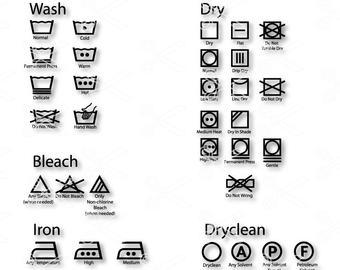 340x270 Laundry Symbols Etsy
