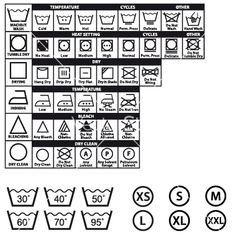 236x248 The 9 Best Fabric Care Images Glyphs, Symbols And