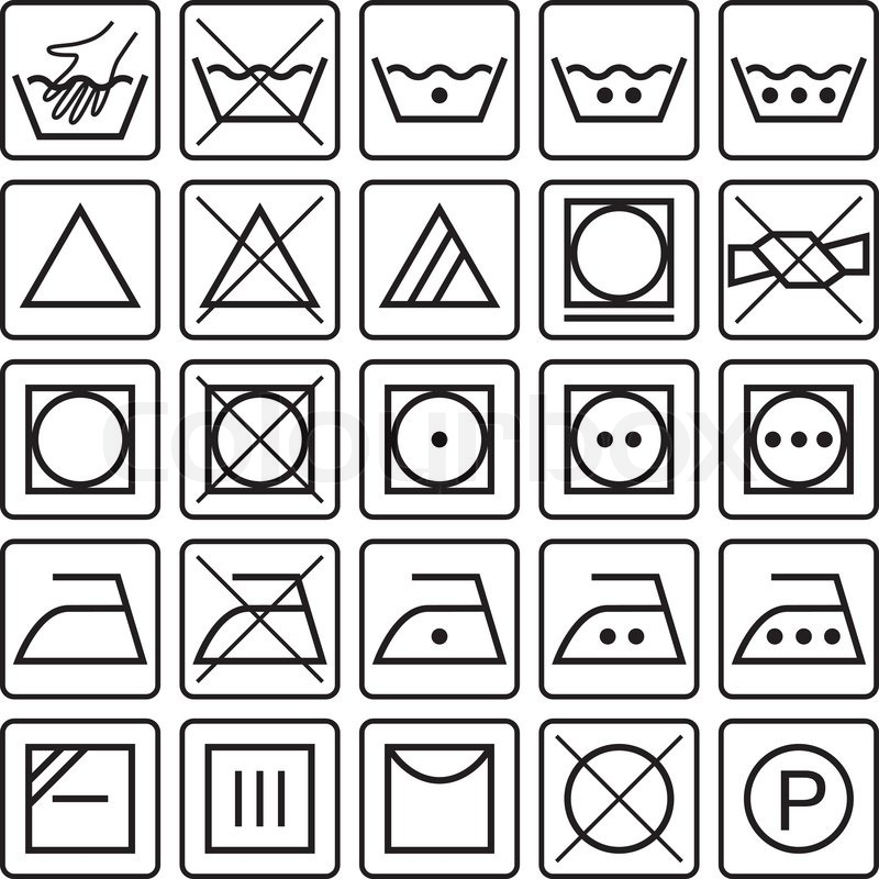 800x800 These Symbols Indicates What To Make Laundry Care For Textile