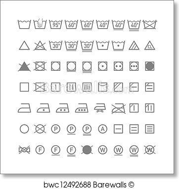 362x382 Art Print Of Laundry Symbols Barewalls Posters Amp Prints