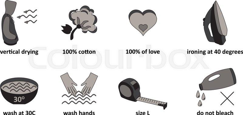 800x378 Beautiful And Unusual Cloth Care Symbols Stock Vector Colourbox
