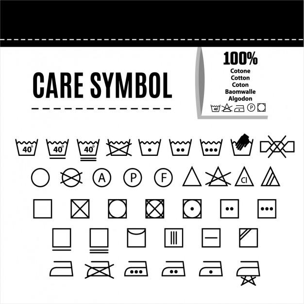 626x626 Clothes Care Symbols Vector Free Download