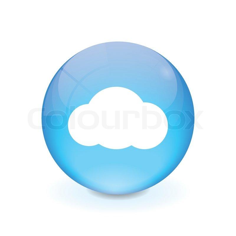800x800 Round Light Blue Button