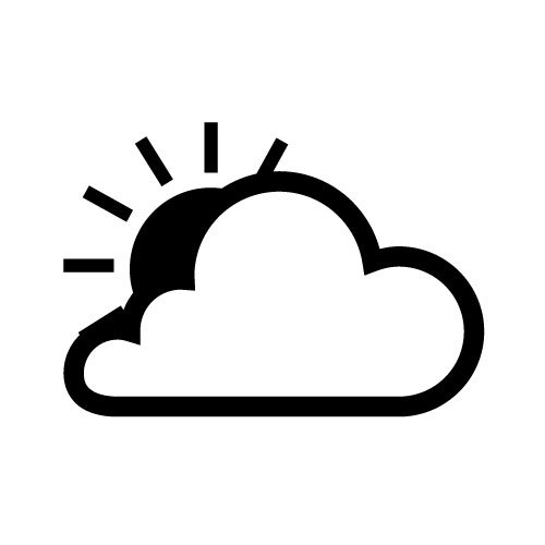 500x500 Weather Vector Icon Public Domain Vectors