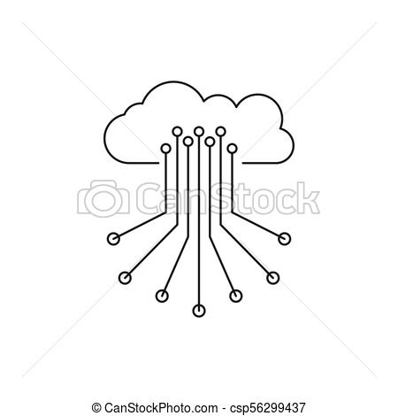450x470 Cloud Control Icon, Outline Style. Cloud Control Icon. Outline