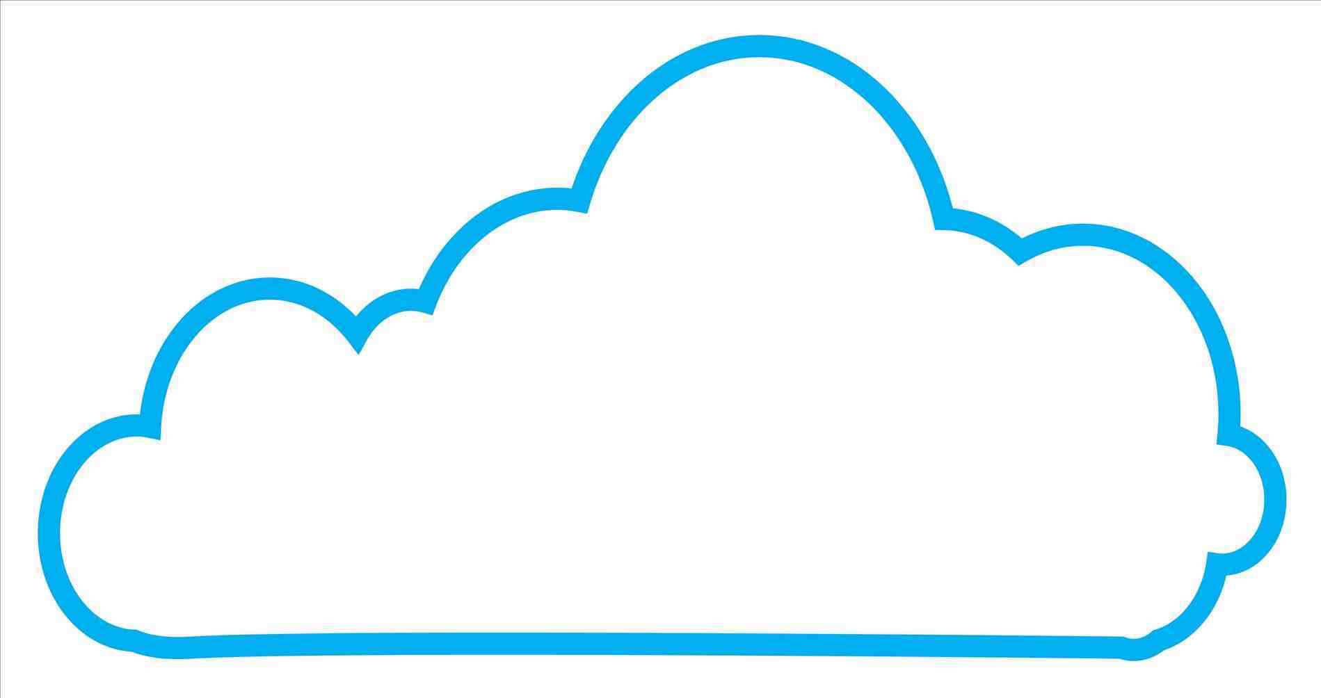 1899x1004 Blue Cloud Outline Cloud Icons Png Images And