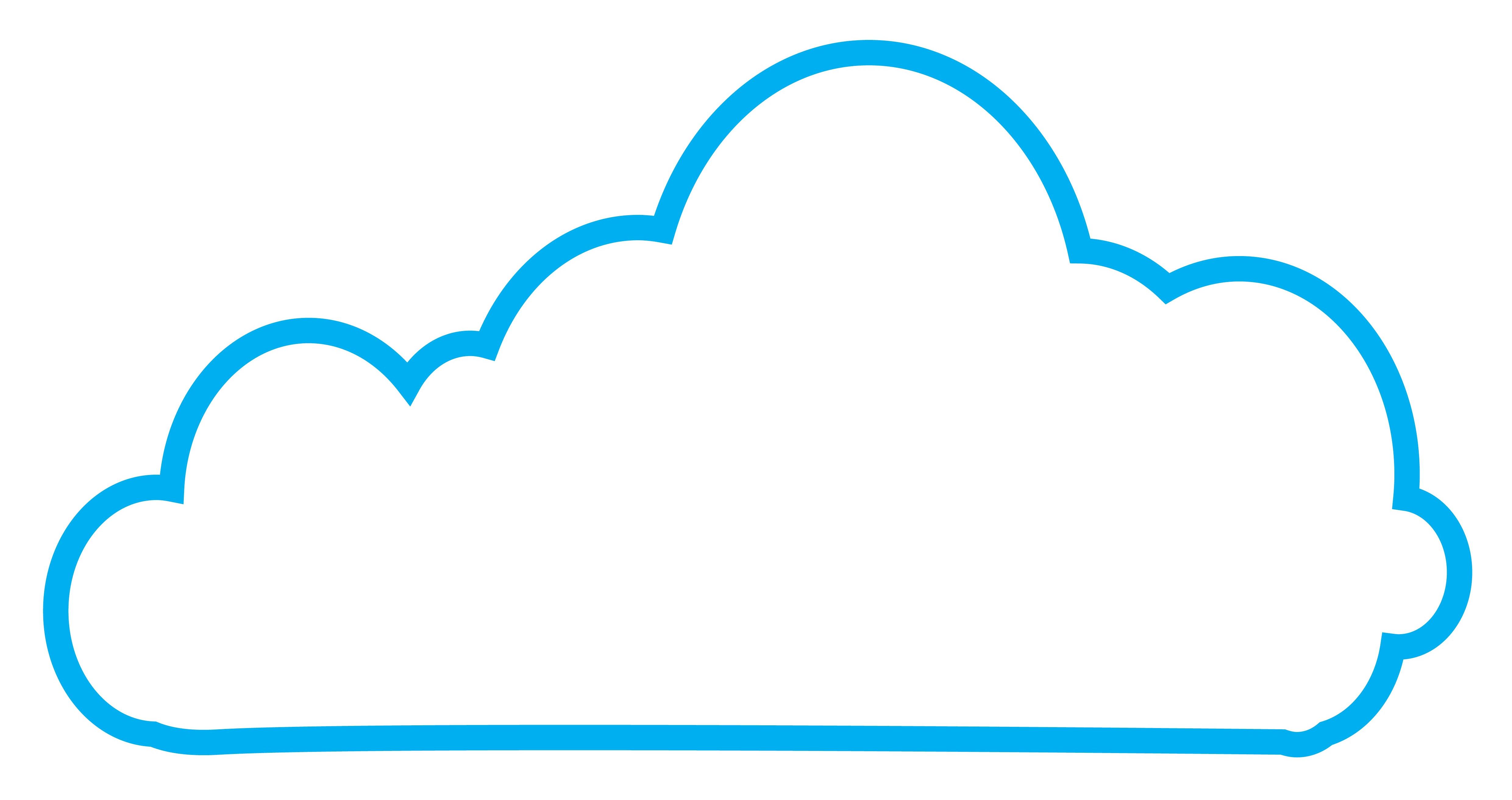 4961x2624 Clipart Cloud Cloud Shape