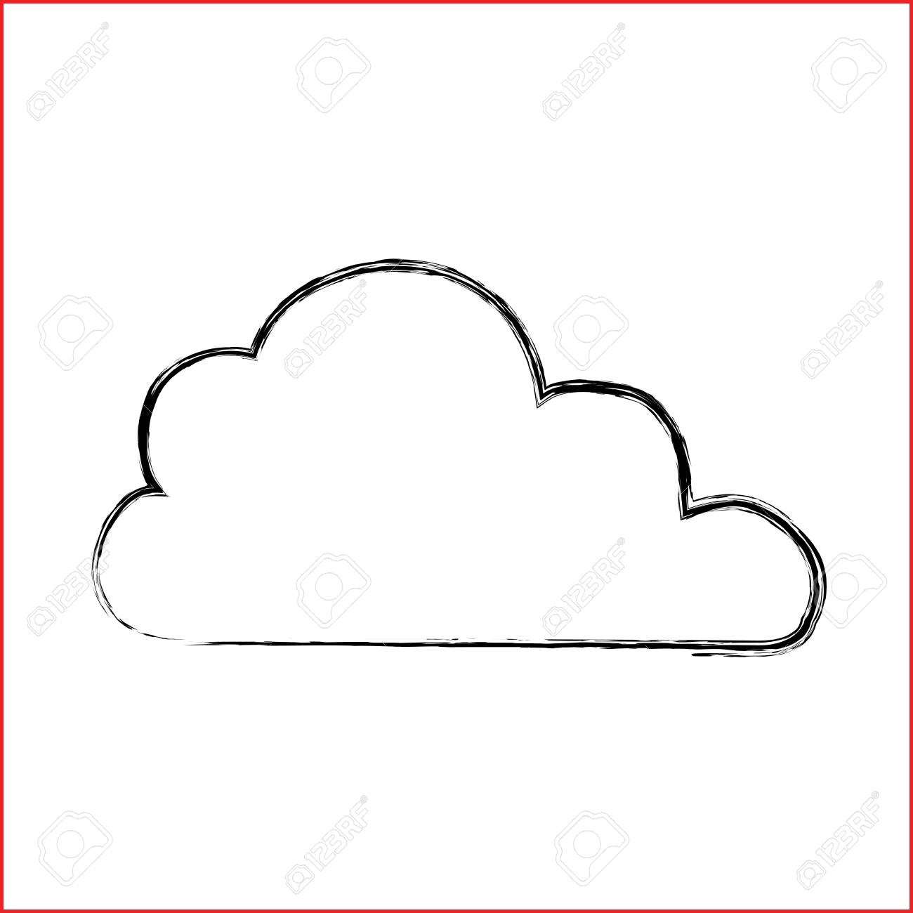 1300x1300 Cloud Drawing 146870 Cloud Weather Draw Vector Icon Illustration