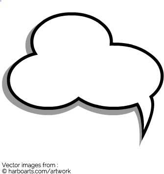 335x355 Download Small Cloud Speech Bubble