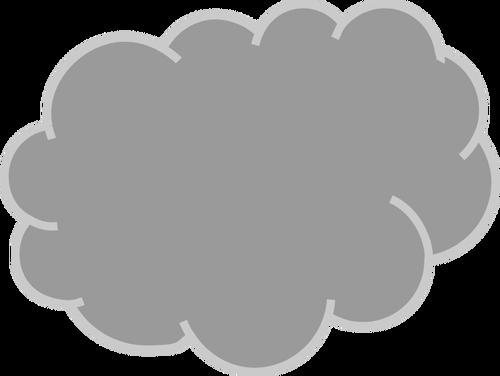 500x376 Gray Cloud Vector Graphics Public Domain Vectors
