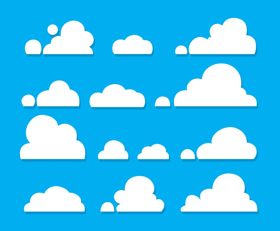 1136x936 White Clouds Vector Set Vector Art Amp Graphics