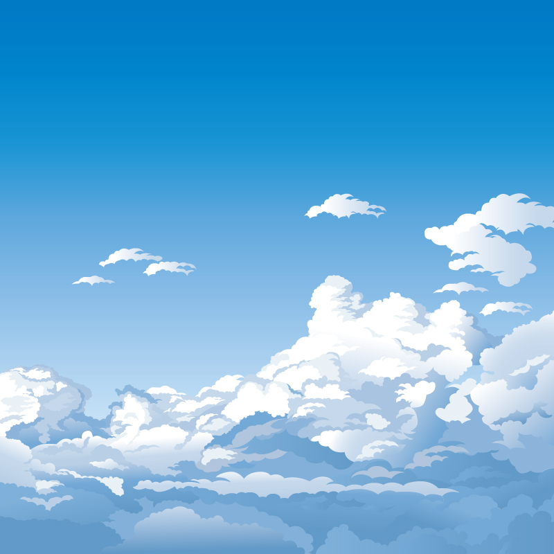 800x800 Cartoon High Clouds Landscape Vector Free Vector Graphic Download