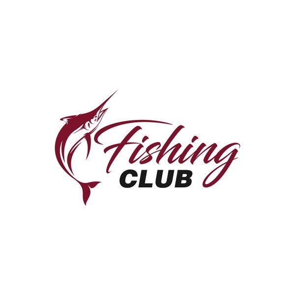600x600 Fishing Club Logo Design Vector Material 02 Free Download