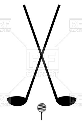 267x400 Golf Club And Ball Silhouette Isolated On A White Background