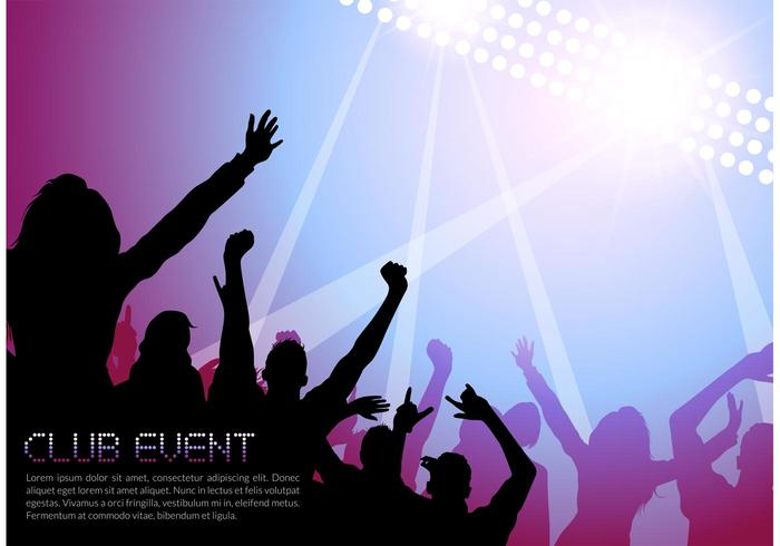 700x490 Night Music Club Life Vector Poster