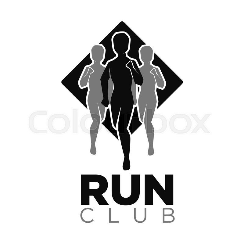 800x800 Run Club Vector Logo Template For Sport Running Or Fitness. Vector