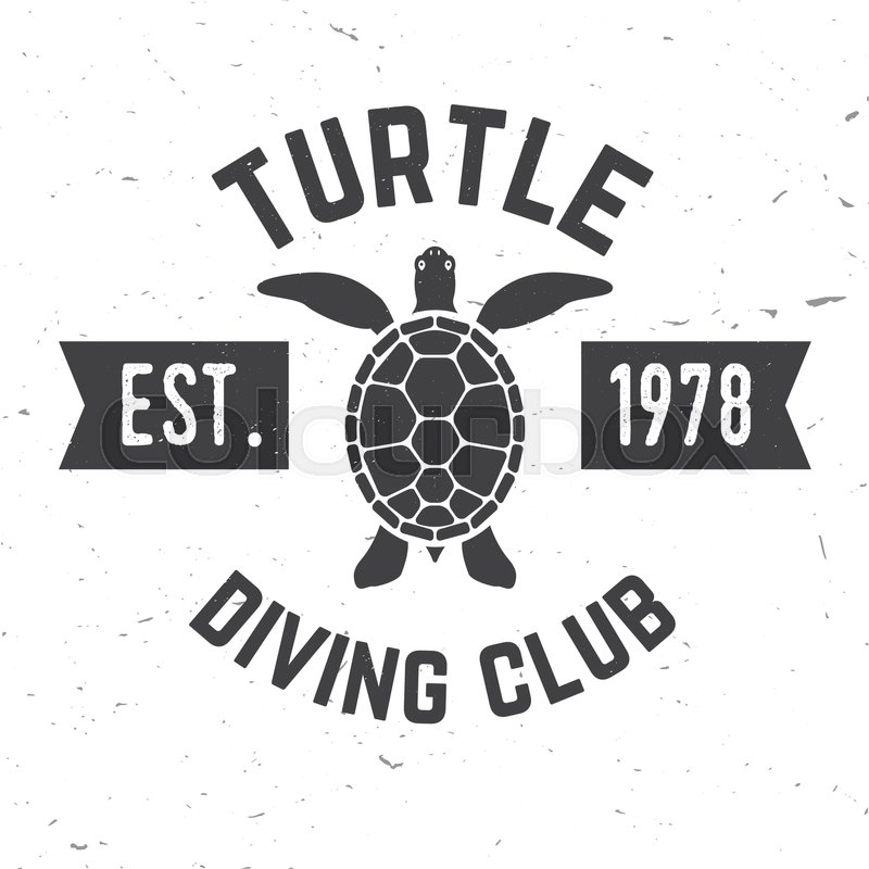 800x800 Turtle Diving Club. Vector Illustration. Concept For Shirt Or Logo
