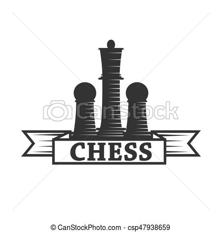 450x470 Chess Club Vector Icon Template Of Chessman King And Rook Or Pawn
