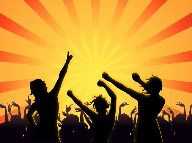 646x481 Club Party People Celebration Silhouettes Vector Free Download
