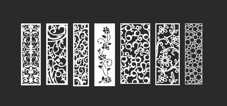 798x373 Collection Cnc Vector Art Patterns Free Vector Download
