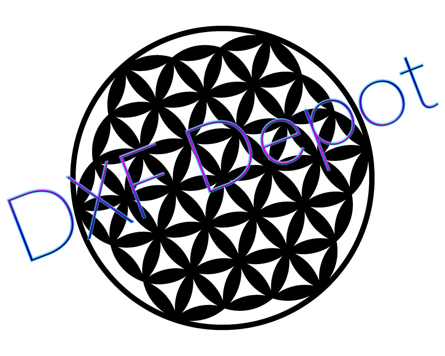 1500x1200 Flower Of Life .dxf Format.