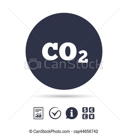 450x470 Co2 Carbon Dioxide Formula Sign Icon. Chemistry. Co2 Carbon