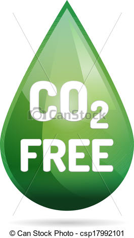265x470 Co2 Free Eco Drop With Shadow On White Background.