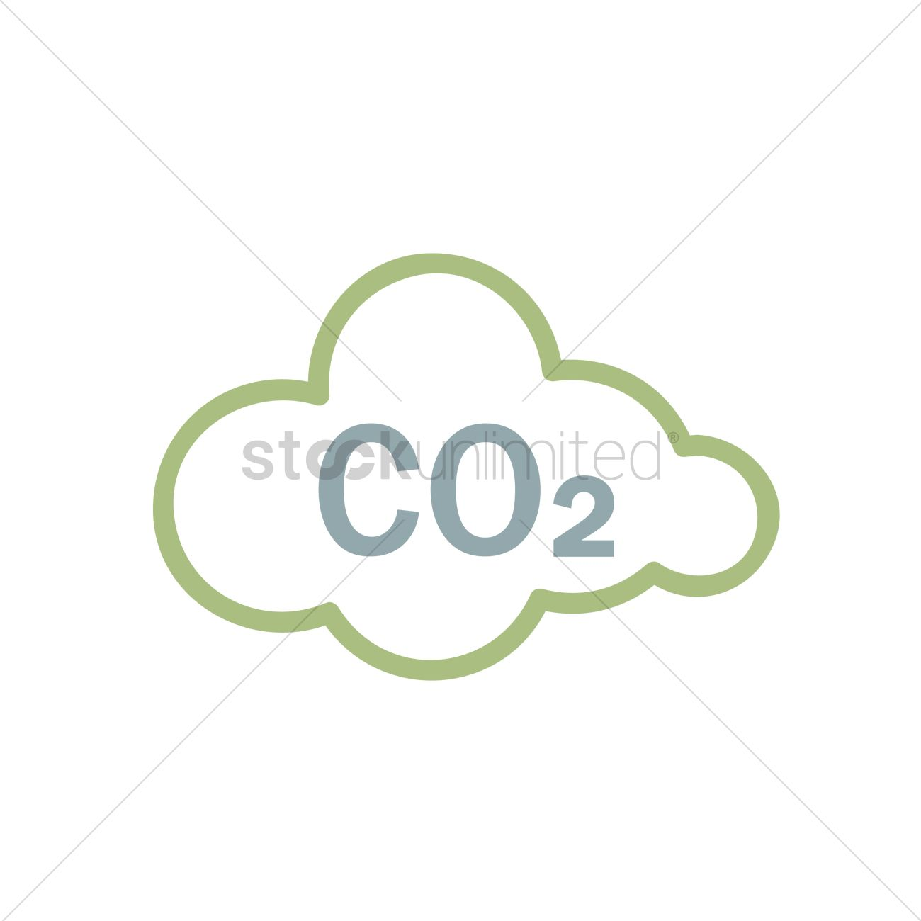 1300x1300 Co2 Sign In Cloud Vector Image