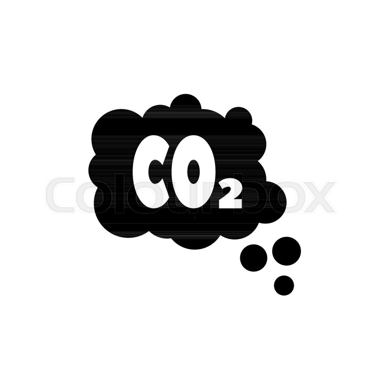 800x800 Co2 Emissions Cloud, Smog Pollution. Flat Vector Icon Illustration